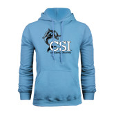 Light Blue Fleece Hood-Cheerleading