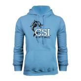 College of Staton Island Light Blue Fleece Hoodie-Softball