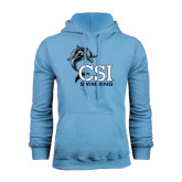 College of Staton Island Light Blue Fleece Hoodie-Swimming