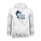 College of Staton Island White Fleece Hoodie-Official Logo