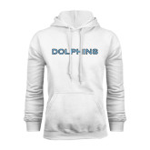 College of Staton Island White Fleece Hoodie-Dolphins