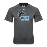 Under Armour Carbon Heather Tech Tee-Athletics