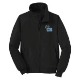 College of Staton Island Black Charger Jacket-Official Logo