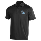 College of Staton Island Under Armour Black Performance Polo-Official Logo