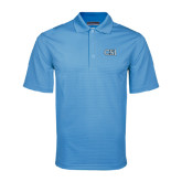 College of Staton Island Light Blue Mini Stripe Polo-CSI