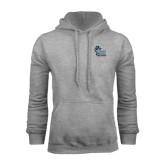 College of Staton Island Grey Fleece Hoodie-Official Logo