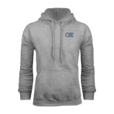 College of Staton Island Grey Fleece Hoodie-CSI