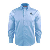 College of Staton Island Red House Light Blue Dobby Long Sleeve Shirt-Official Logo