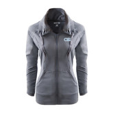 Ladies Sport Wick Stretch Full Zip Charcoal Jacket-CSI
