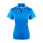 College of Staton Island Ladies Light Blue Performance Fine Jacquard Polo-Official Logo