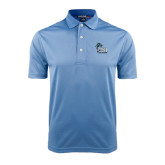 College of Staton Island Light Blue Dry Mesh Polo-Official Logo
