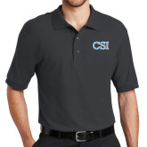 College of Staton Island Charcoal Easycare Pique Polo-CSI