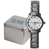 College of Staton Island Mens Stainless Steel Fashion Watch-Dolphins