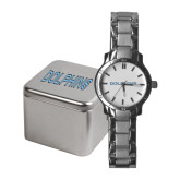 College of Staton Island Ladies Stainless Steel Fashion Watch-Dolphins