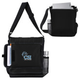 College of Staton Island Impact Vertical Black Computer Messenger Bag-Official Logo