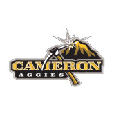 Medium Decal-Cameron Aggies Pick and Mountain, 8 inches wide