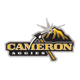 Large Decal-Cameron Aggies Pick and Mountain, 12 inches wide