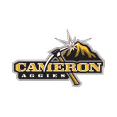 Small Decal-Cameron Aggies Pick and Mountain, 6 inches wide