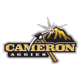 Extra Large Decal-Cameron Aggies Pick and Mountain, 18 inches wide