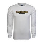 White Long Sleeve T Shirt-Cameron Aggies Flat