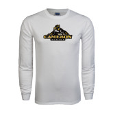 White Long Sleeve T Shirt-Cameron Aggies Miner