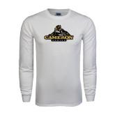 White Long Sleeve T Shirt-Cameron Aggies Miner