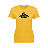 Ladies Gold T Shirt-Cameron Aggies Miner
