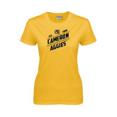 Ladies Gold T Shirt-Slanted Est. 1908