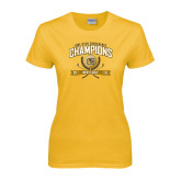 Ladies Gold T Shirt-2016 Lone Star Conference Champions Mens Golf