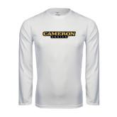 Syntrel Performance White Longsleeve Shirt-Cameron Aggies Flat