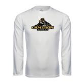 Syntrel Performance White Longsleeve Shirt-Cameron Aggies Miner