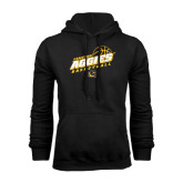 Black Fleece Hoodie-Aggies Basketball Slanted