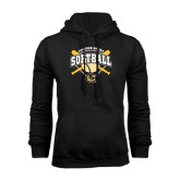 Black Fleece Hoodie-Softball w/ Bats and Plate