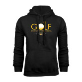 Black Fleece Hoodie-Golf w/ Ball and Flag