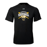 Under Armour Black Tech Tee-Softball w/ Bats and Plate