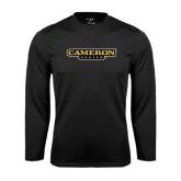 Syntrel Performance Black Longsleeve Shirt-Cameron Aggies Flat