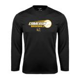Syntrel Performance Black Longsleeve Shirt-Cameron Baseball w/ Flying Ball
