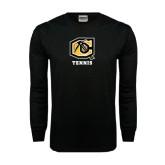 Black Long Sleeve TShirt-Tennis