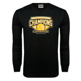 Black Long Sleeve TShirt-Lone Star Conference Basketball Champs