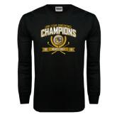 Black Long Sleeve TShirt-2016 Lone Star Conference Champions Mens Golf