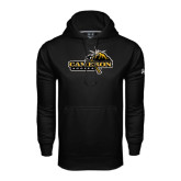 Under Armour Black Performance Sweats Team Hoodie-Cameron Aggies Pick and Mountain