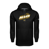 Under Armour Black Performance Sweats Team Hoodie-Aggies Basketball Slanted
