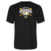 Syntrel Performance Black Tee-Softball w/ Bats and Plate