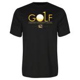 Syntrel Performance Black Tee-Golf w/ Ball and Flag