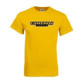 Gold T Shirt-Cameron Aggies Flat