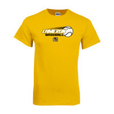 Gold T Shirt-Cameron Baseball w/ Flying Ball