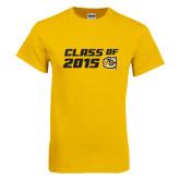Gold T Shirt-Class Of Design 2 Lines