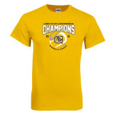 Gold T Shirt-2016 Lone Star Conference Champions Womens Tennis