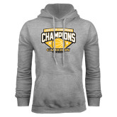 Grey Fleece Hoodie-Lone Star Conference Basketball Champs