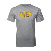 Grey T Shirt-Cameron Arched Aggies